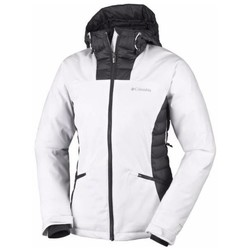 Vêtements Femme Polaires Columbia SALCANTAY HOODED JACKET WHITE BLACK VESTE SKI FEMME WHITE BLACK