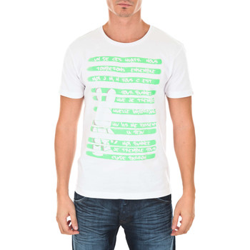 T-Shirt Art toy tee shirt mc bunne and clyde blanc vert fluo