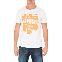 Vêtements Homme T-shirts manches courtes Art Toy Tee Shirt Mc Let Me Introduce You  Blanc Orange Fluo Blanc