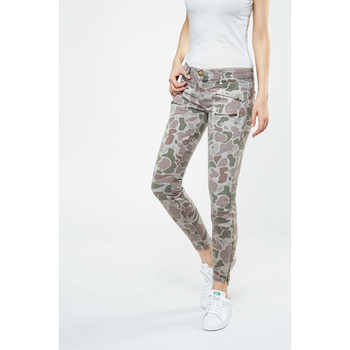 Vêtements Femme Jeans slim Current Elliott Jeans The Multi Zip Stiletto  Kaki Kaki