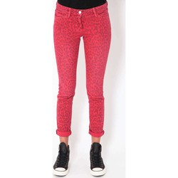 Vêtements Femme Jeans slim Was Jeans Bb  Imprime Panthere Fushia Rose