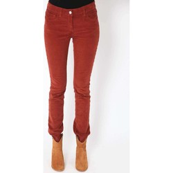 Vêtements Femme Jeans slim Was Jeans Kate  Rouille Orange