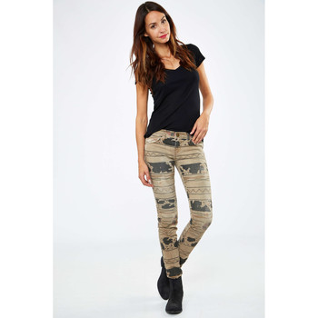 Vêtements Femme Jeans slim Current Elliott Jeans The Ankle Skinny  Beige Tribal Beige