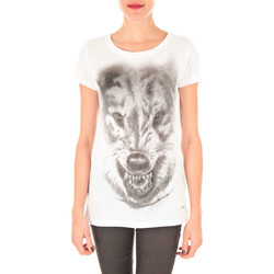 Vêtements Femme T-shirts manches longues Meltin'pot Tee Shirt Mc Apollina  Blanc Blanc