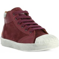 Chaussures Fille Baskets montantes The Art Company A153 STAR-SUEDE CERISE/ SIDNEY Lilas