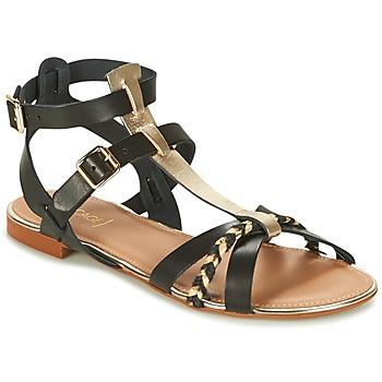 Chaussures Femme Sandales et Nu-pieds Bocage JARET Noir / Doré