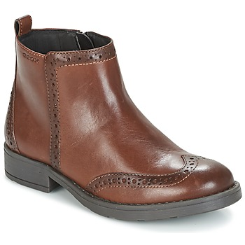 Chaussures Fille Boots Geox J SOFIA F Marron