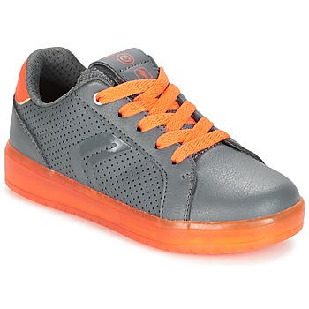 Chaussures Garçon Baskets basses Geox J KOMMODOR B.B Gris / Orange