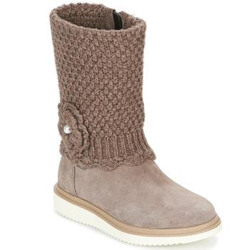 Chaussures Fille Bottes ville Geox J THYMAR G. F Beige
