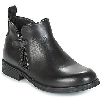 Chaussures Fille Boots Geox J AGATA C Noir