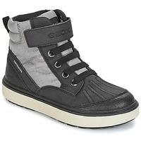 Chaussures Garçon Baskets montantes Geox J MATT.B ABX B Gris / Noir