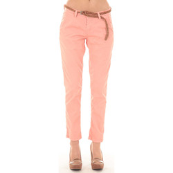 Vêtements Femme Chinos / Carrots Meltin'pot Pantacourt Mandi  Saumon Corail
