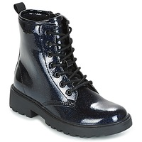 Chaussures Fille Boots Geox J CASEY G. K Marine