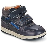 Chaussures Garçon Baskets montantes Geox B NEW FLICK B. A Marine / Bleu