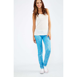 Vêtements Femme Jeans slim Freesoul Jeans Silver  Turquoise Turquoise