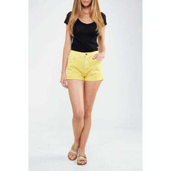 Vêtements Femme Shorts / Bermudas Meltin'pot Short Mbw002  Jaune Jaune