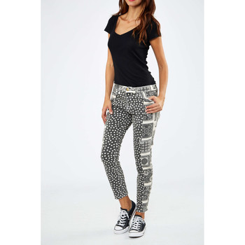 Vêtements Femme Jeans slim Current Elliott Jeans The Seamstress Current Elliot Noir Blanc Noir