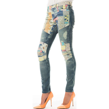 Vêtements Femme Jeans slim Current Elliott Jeans The Moto Ankle Current Elliot Patchwork Multicolor