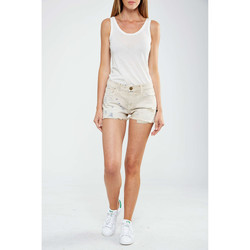 Vêtements Femme Shorts / Bermudas Current Elliott Short The Boyfriend Current Eliott Beige Beige