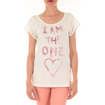 Vêtements Femme T-shirts manches courtes Replay Tee Shirt Mc  Ecru Ecru