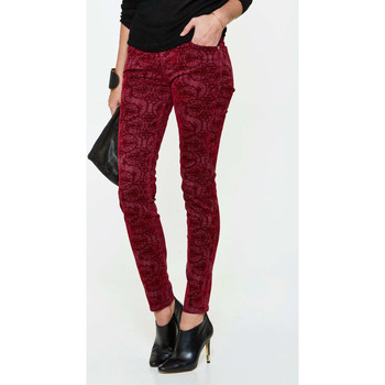Vêtements Femme Jeans slim 7 for all Mankind Jeans The Skinny  Bordeaux Bordeaux