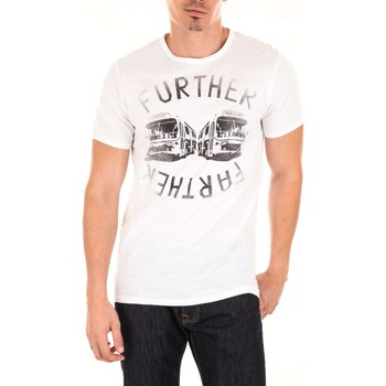 T-shirts manches courtes Edwin Tee Shirt Mc Futher Buses  Blanc