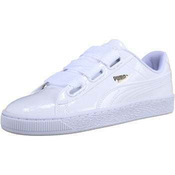 Chaussures Homme Baskets basses Puma Basket Heart Patent Wn's 363073 - 02 Blanc Blanc