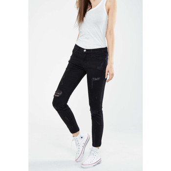 Vêtements Femme Jeans slim Current Elliott Jeans The Stiletto Current Elliot Noir Destroy Noir