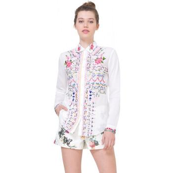 Vêtements Femme Tuniques Desigual Chemise  Atenas Blanc 71C2WD0 1
