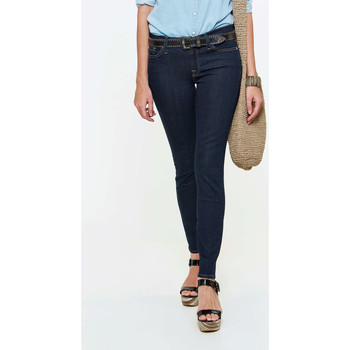 Vêtements Femme Jeans slim 7 for all Mankind Jeans The Skinny  Bleu Fonce Bleu