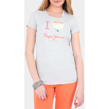 T-shirts manches longues Pepe jeans Tee Shirt Mc Dover  Gris Chine