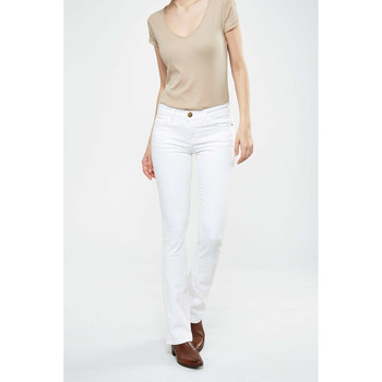 Vêtements Femme Jeans droit Current Elliott Jeans The Slim Boot  Blanc Blanc