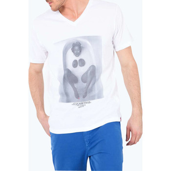 Vêtements Homme T-shirts manches courtes French Kick Tee Shirt Mc Elisabeth 2  Blanc Blanc