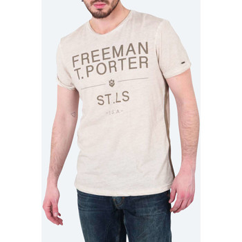 T-shirts manches courtes Freeman T.Porter Tee Shirt Mc Teeporter  Beige