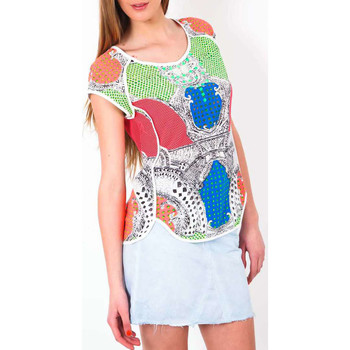 T-shirts manches courtes Color Block Top  Multicouleurs
