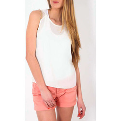 T-shirts manches courtes Color Block Top  Ecru