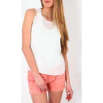 Vêtements Femme T-shirts manches courtes Color Block Top  Ecru Ecru