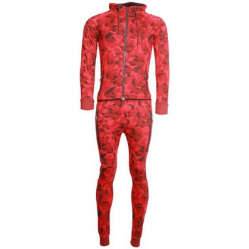 Ensembles de survêtement Cabaneli Ensemble Survêtement Jogging Tech Camo Rouge Metric