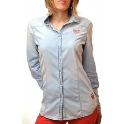 Vêtements Femme Chemises / Chemisiers Gaastra Chemisier  bleu jean Piment pour femme Bleu