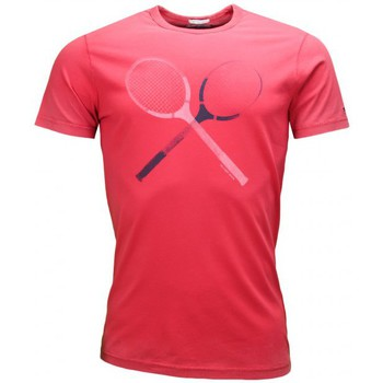 Vêtements Homme T-shirts manches courtes Tommy Hilfiger T-shirt Tommy Hilfiger Dénim Raquette rouge pour homme Rouge
