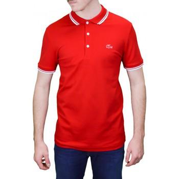 Vêtements Homme Polos manches courtes Lacoste Polo 3 boutons  rouge pour homme Rouge