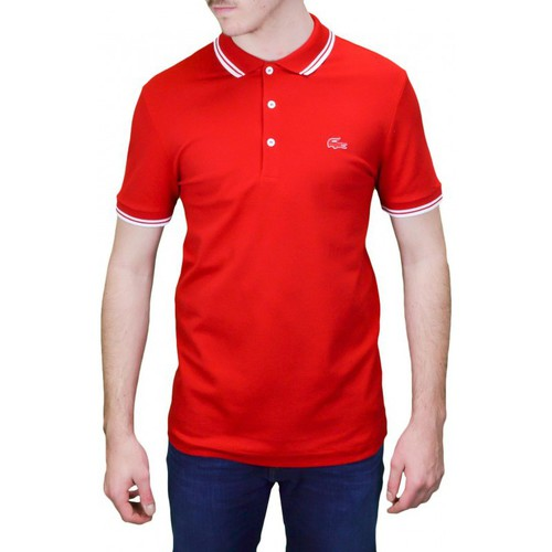 Lacoste Polo 3 boutons rouge pour homme Rouge