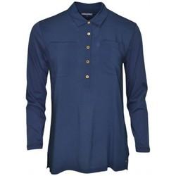 Vêtements Femme T-shirts manches longues Tommy Hilfiger Top manches 3/4  Ortensia bleu marine pour femme Bleu