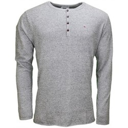 Pulls Tommy Hilfiger Pull Tommy Hilfiger col rond à boutons gris pour homme