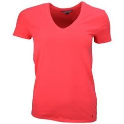 Vêtements Femme T-shirts manches courtes Tommy Hilfiger T-shirt  col V Lizzy rouge pour femme Rouge