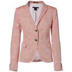 Vêtements Femme Vestes de costume Gant Veste  rose cerise Herringbone pour femme Rouge
