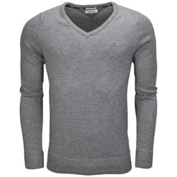 Vêtements Homme Pulls Tommy Hilfiger Pull col V Tommy Hilfiger basique gris pour homme Gris
