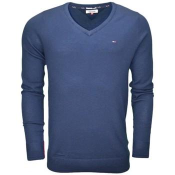 Vêtements Homme Pulls Tommy Hilfiger Pull col V Tommy Hilfiger basique bleu marine pour homme Bleu