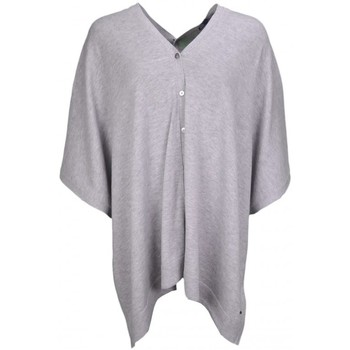 Vêtements Femme Gilets / Cardigans Tommy Hilfiger Gilet cape  Belka grise pour femme Gris