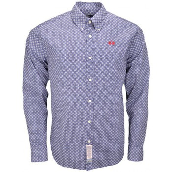 Vêtements Homme Chemises manches longues La Martina Chemise  Tony bleue à motifs pour homme Bleu